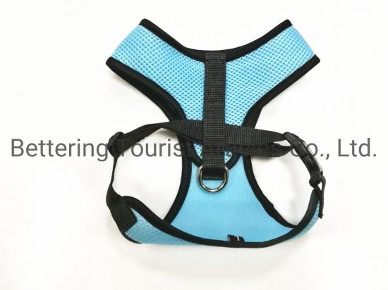 Blue Reflective Sandwich Dog Harness