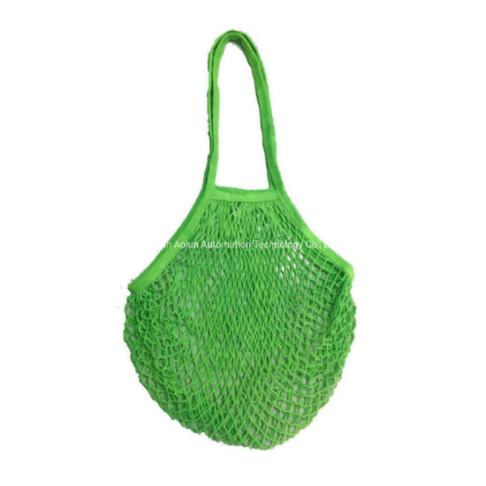 Eco-Friendly Portable Washable Net Shopping Tote String Reusable Organic Cotton Mesh Bag