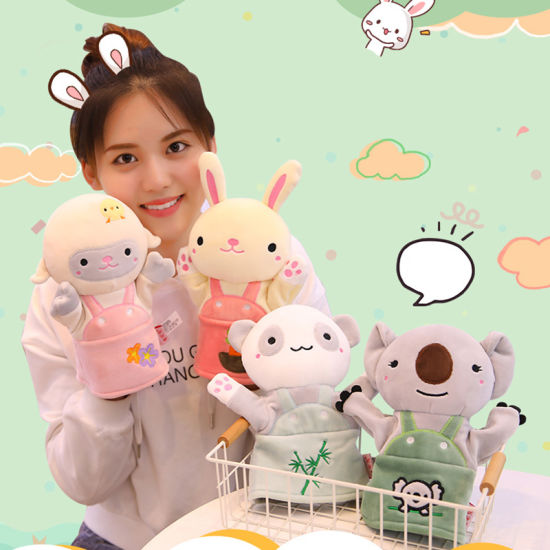 Interactive Toys Cute Jungle Cartoon Plush Toy Animal Doll Puppets Kindergarten Parenting Toys Hand Puppet