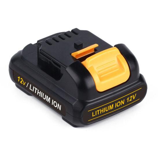 Li-ion 12V 1500mAh Replacement Cordless Drill Battery for Dewalt Dcb120, Dcb121