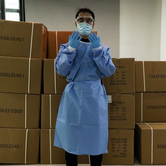 Disposable Protection Suit Non-Woven Protective Suit Safety Clothing Workshop Coverall