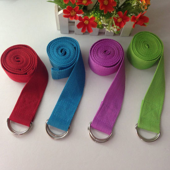 Best Price Eco-Friendly Cotton Yoga Belt Strap Made in China