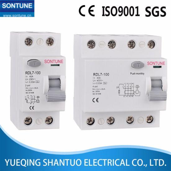 Rdl7-100 Series RCCB Residual Current Circuit Breaker