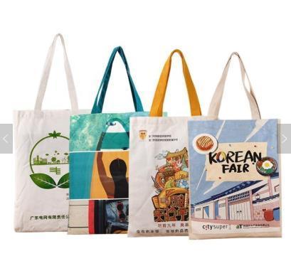 2020 Stylish Promotional Custom Printed Organic Cotton Bag Canvas Tote Bags