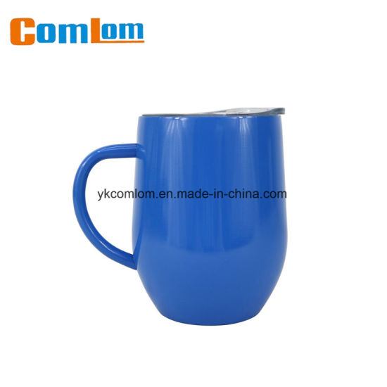 CL1C-M115 Comlom Wholesale 12oz Stainless Steel Double Wall Beer/ Coffee Mug Wine Glasses