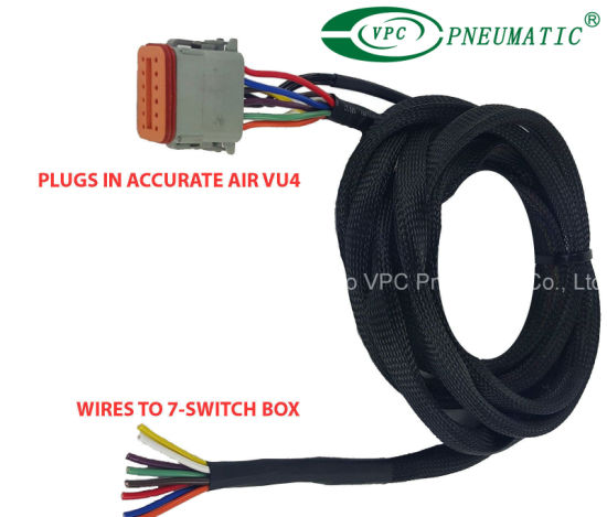 China Air Ride Suspension Vu4 Wiring Harness Connects ... on