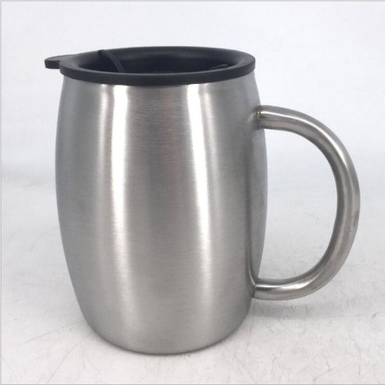 Amazon Hottest! 14oz Double Wall Stainless Steel Big Belly Beer Mug with Handle (DC-LX14) pictures & photos