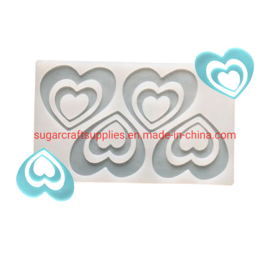 Love Heart Silicone Chocolate Mold Bakeware Birthday Cake Cookie Decorating Tools Chocolate Mould