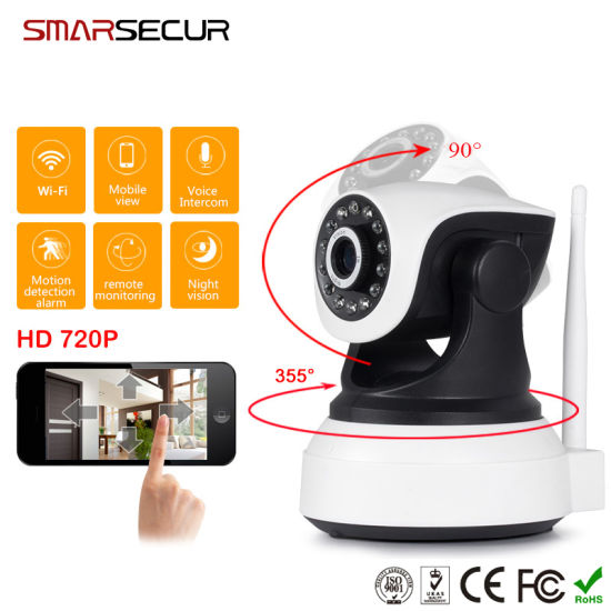 Wireless 720p IR-Cut Night Vision Audio Record WiFi CCTV Camera Onvif/Indoor/Surveillance Camera pictures & photos