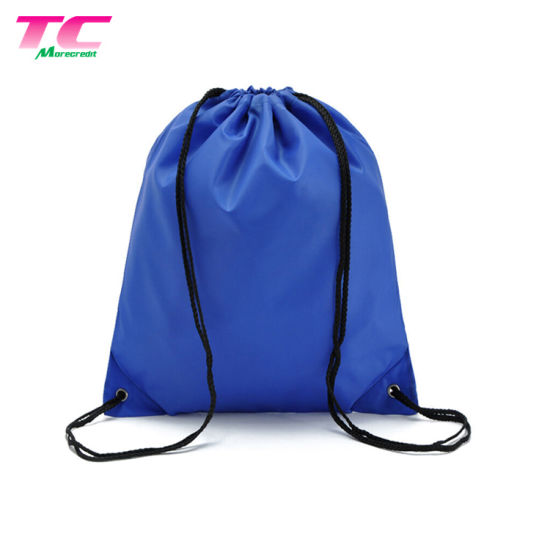 b668823554ba Custom Blue Silk Drawstring Bags Make up Custom Canvas Tote Bag pictures    photos