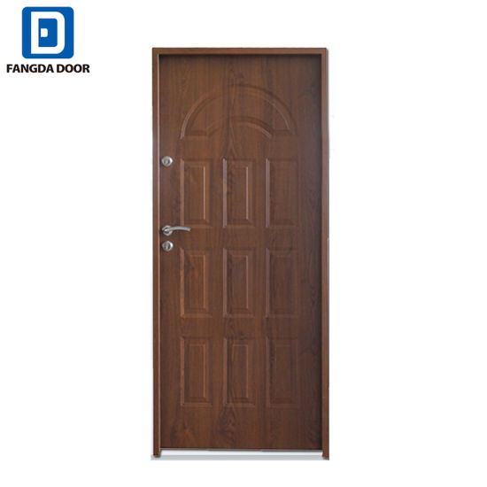 China Polan Security Front Door With Wooden Look Skin