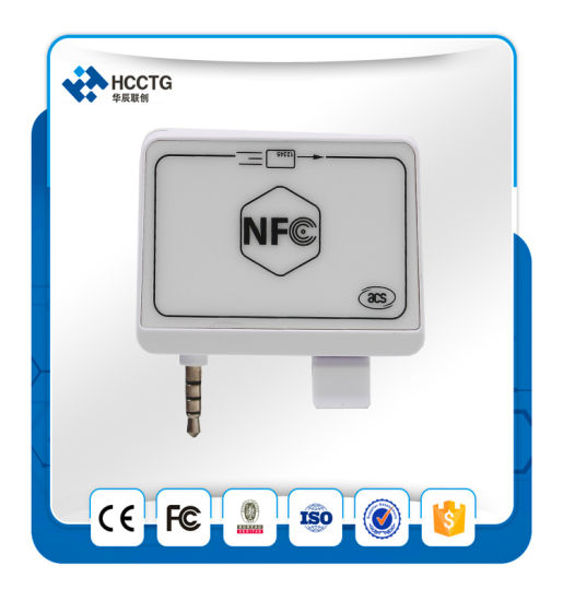 Android and Ios Audio Jack NFC and Magnetic Card Reader ACR35