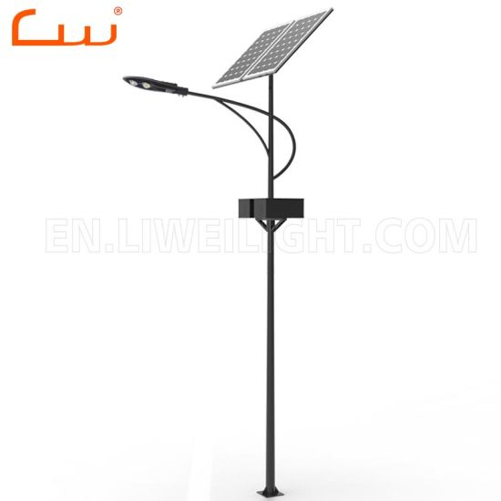 Chinese Solar Street Light 60W LED Lamp with Pole Post