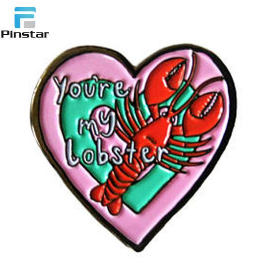 Wholesale Custom Soft Enamel Lobster Metal Lapel Pins Supplier
