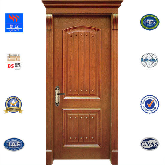 Hot Sale Interior Doors PVC MDF Skin Membrane Solid Wood Door From Fashion  China Fire Door Manufacturer (SW KA 006)