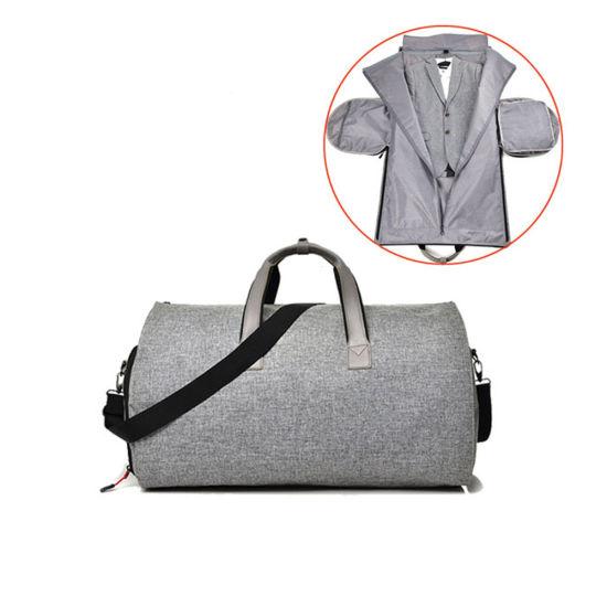 Fashion Men's 2 in 1 Garment Bag+Duffle Business Travel Portable Suit Jacket Bag