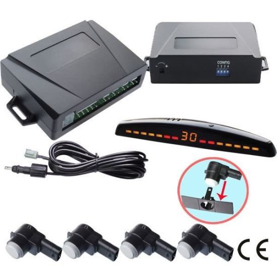 No False Alarm Wireless Backup Car White Parking Sensors