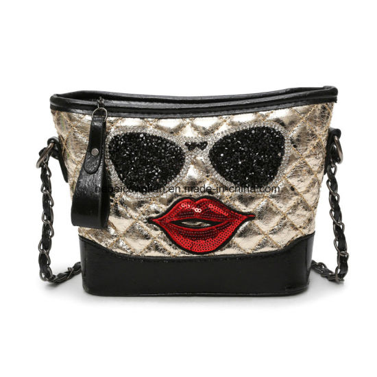 China Diamond Crystal Bag Lip Shaped Bag Leather Messenger Bag ... 24323b1ee9
