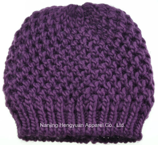 Women Autumn and Winter Warm Knitted Hat Beanie Hat (HY17071812/HY17071816/HY17071814) pictures & photos
