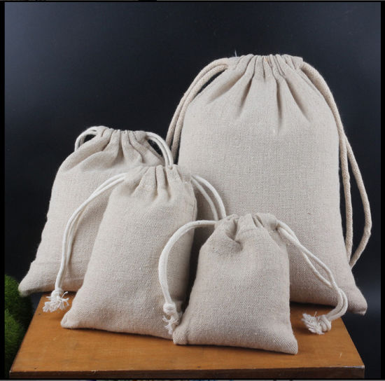 658a7548e00f China Wholesale Retail Blank Linen Drawstring Bag