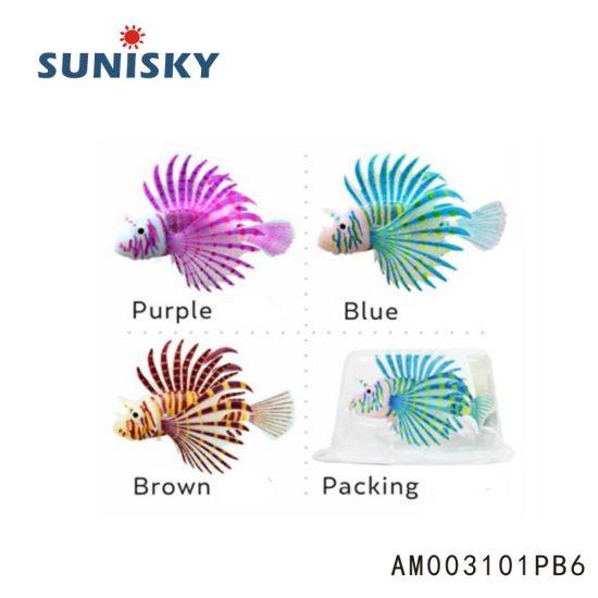 China Am003101pb6 Glowing Effect Wholesale Artificial Lionfish