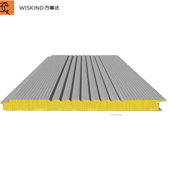 30/40/50mm/75mm/100mm/150mm Fireproof Insulated Soudproof EPS/PU/PIR/PUR/Polyurethane/Rock Wool Sandwich Panel for Roof and Wall Panel with ISO/CE Approved