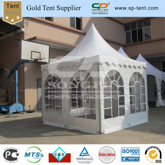 Outdoor Fancy Wedding Tents with PVC Windows (3X3m pagoda) & China Outdoor Fancy Wedding Tents with PVC Windows (3X3m pagoda ...