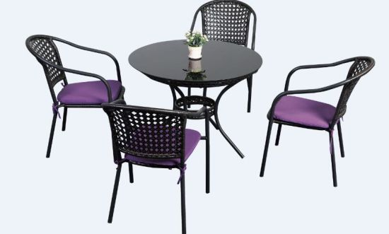 100% Plastic Wood for Outdoor Furniture Park Furniture with Chair pictures & photos