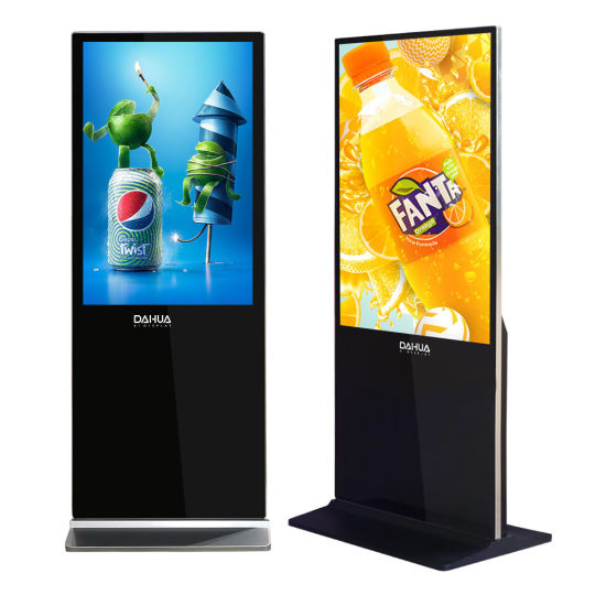 43 Inch Digital Signage Player Display, LCD Indoor Digital Signage, Floor Standing Totem, Advertising Kiosk for Shopping Mall and Supermarket