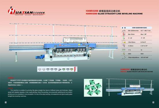 9 Motors Automatic Glass Straight Line Beveled Machine