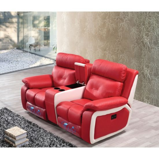 Pink Color Romantic Home Theater Massage Recliner Sofa 6041TV pictures & photos