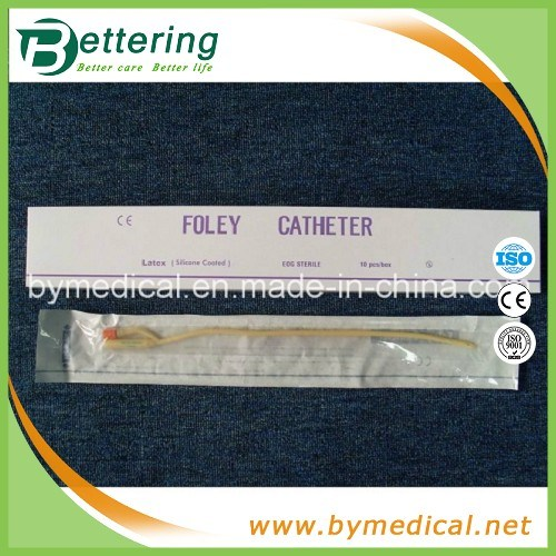 Medical Disposable 2 Way Latex Foley Catheter with Silicone Coated