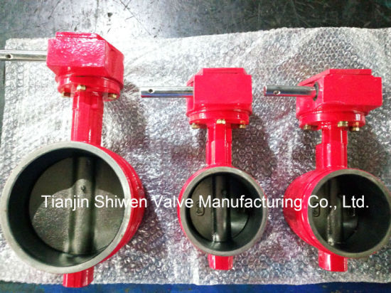 Cast Iron/ Ductile Iron/Grooved End Wafer Signal Butterfly Valve pictures & photos