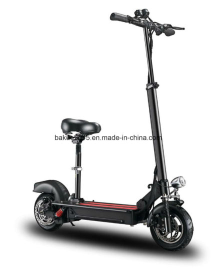 Folding /High Power Electric Scooter with Adjustable Seat, 48V500W, 10''wheel