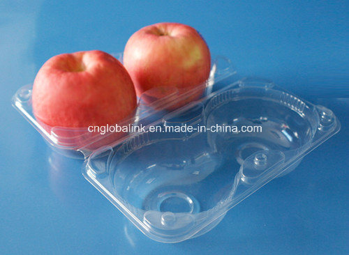 Disposable Clamshell Plastic Apple Tray Container for Fruit Packaging pictures & photos