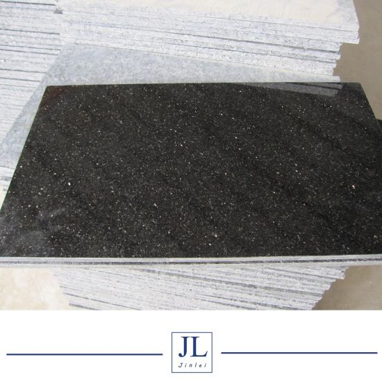 China Low Price Absolutely Black Galaxy Granite Kitchen Countertop