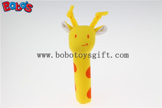 Soft Cute Baby Giraffe Animal Stick Toys for Infant Bosw1042