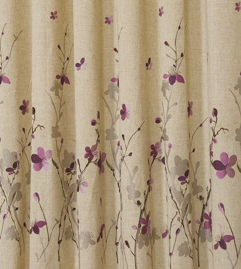 Linen Embroidered Finished Curtains pictures & photos