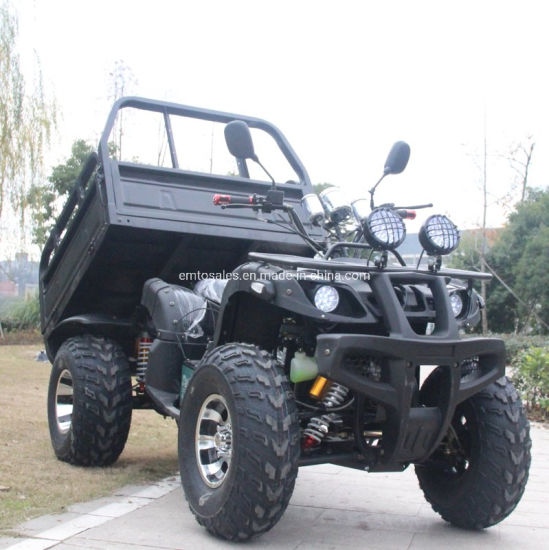 2019 New ATV 250cc Water-Cooled Quad Bike Farm ATV with Trailer