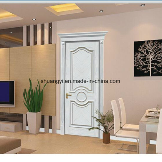 China Room Composite Mdf Timber Interior Wood Door Manufacturer