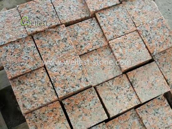 Genial Bushhammered Red Granite Driveway Cobblestone, Granite Patio Pavers
