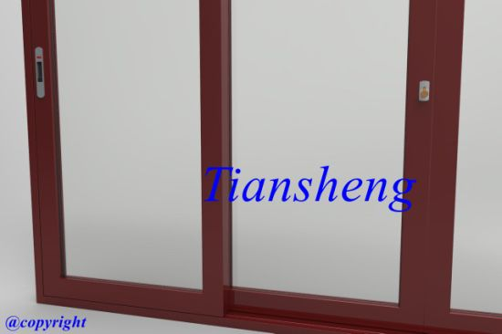 Double Glazing Aluminum Sliding Door pictures & photos