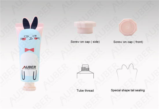 D30mm Rabbit Shape Tube Cosmetic Packaging Body Lotion