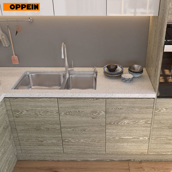 Melamine Board, Particleboard, Laminate Finish and Wall Cabinets Type  Kitchen Cabinets