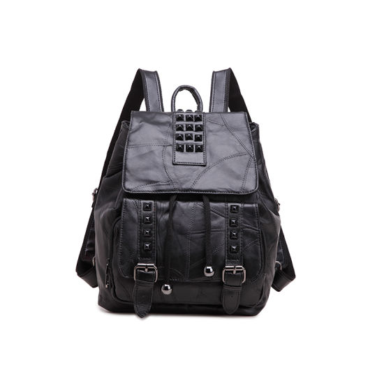 87e87526582787 2016 Wholesale High Quality Fashion Stylish Genuine Leather Women Backpack  pictures & photos