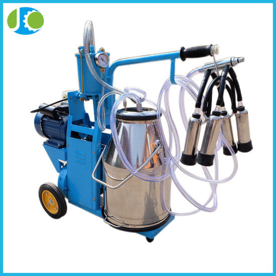 Farm Used Electrical Manual Milking Machine with Piston Pump