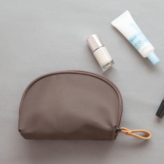 a2b32d8017e5 Small Capacity Travel Cosmetic Make up Bag portable Makeup Bag Purse Pouch  Zipper Main Brand Beautician Clutch Bags