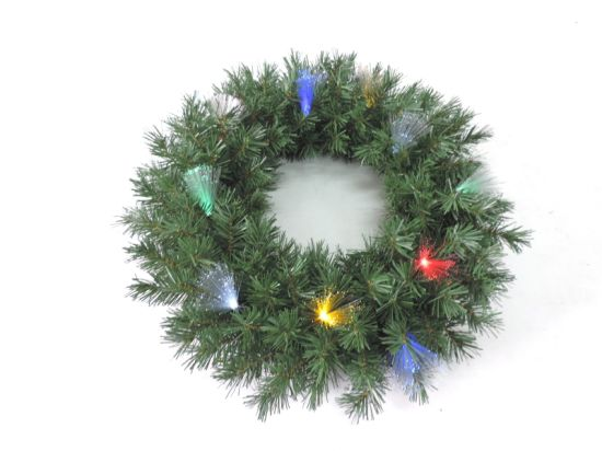 pre lit 24 artificial christmas wedding decoration gift pvc wreath - How To Decorate Artificial Christmas Wreath