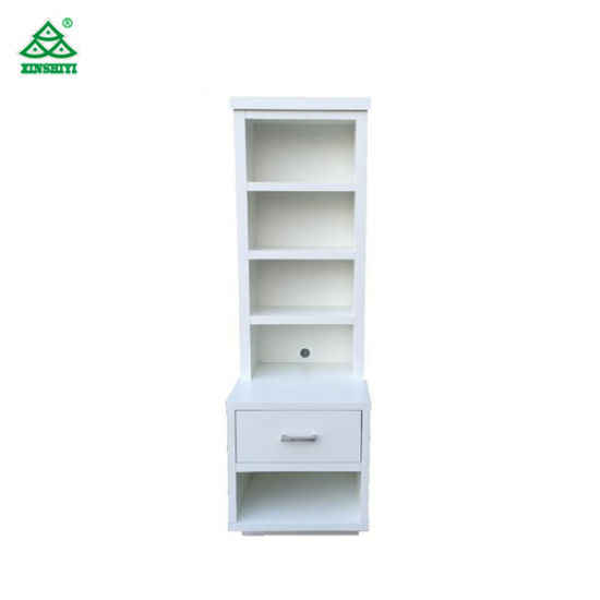 low priced 6535f 94373 China PU Finish Tall Bedside Tables with Drawers / White ...