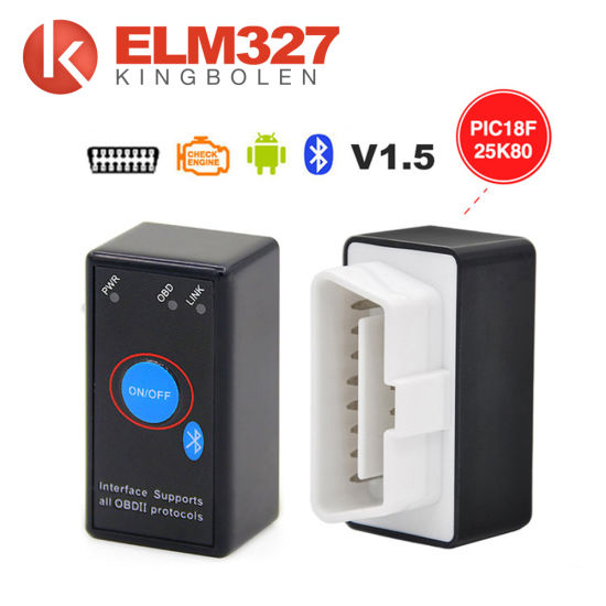 a++Quality Elm327 with Switch V1.5 Version Elm 327 Bluetooth with Switch Works on Android Symbian Windows Free Shipping pictures & photos